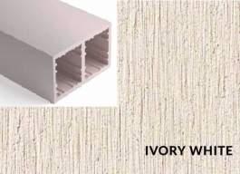 Lamele Duro Ivory White - 40x80mm
