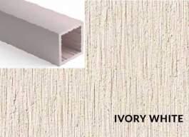 Lamele Duro Ivory White- 40x40mm